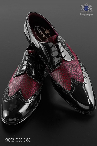 "Black and red leather ""Golf"" shoes"