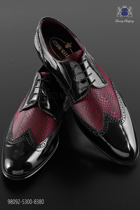 "Black and red leather ""Golf"" shoes 98092-5300-8380 Ottavio Nuccio Gala."