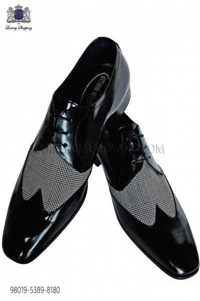 Bicolor gray-black leather shoes 98019-5389-8180 Ottavio Nuccio Gala.