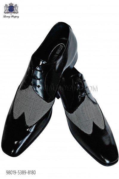 Bicolor gray-black leather shoes 98019-5389-8180 Ottavio Nuccio Gala.