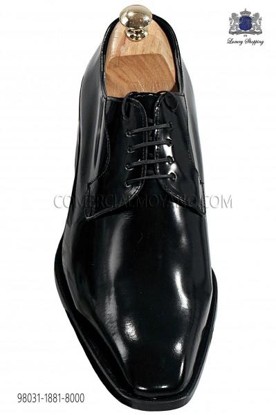 Zapatos negros de cordones en cuero 98031-1881-8000 Ottavio Nuccio Gala.