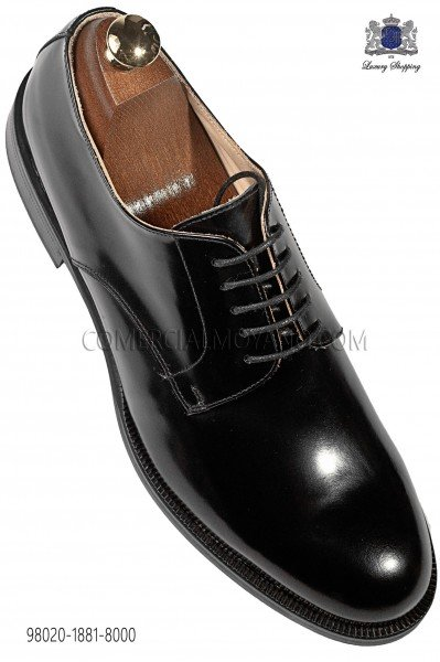 "Black leather ""Derby"" shoes 98020-1881-8000 Ottavio Nuccio Gala."