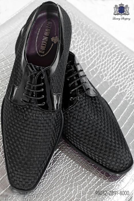 Black braided tuxedos shoes 98032-2891-8000 Ottavio Nuccio Gala.