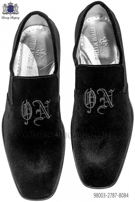 Black velvet shoes 98003-2787-8084 Ottavio Nuccio Gala.