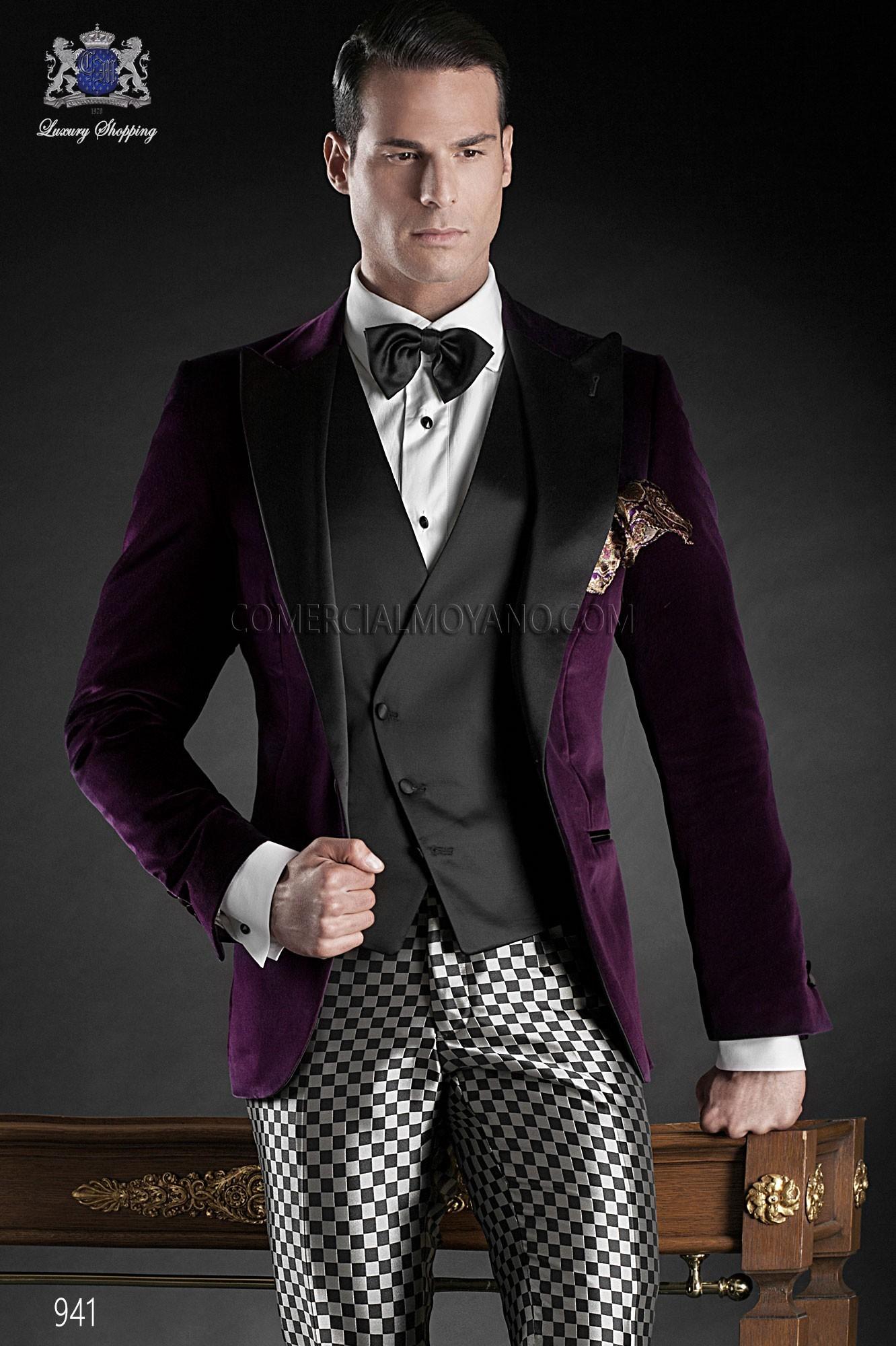 Traje de fiesta hombre morado modelo: 941 Ottavio Nuccio Gala colección Black Tie 2017