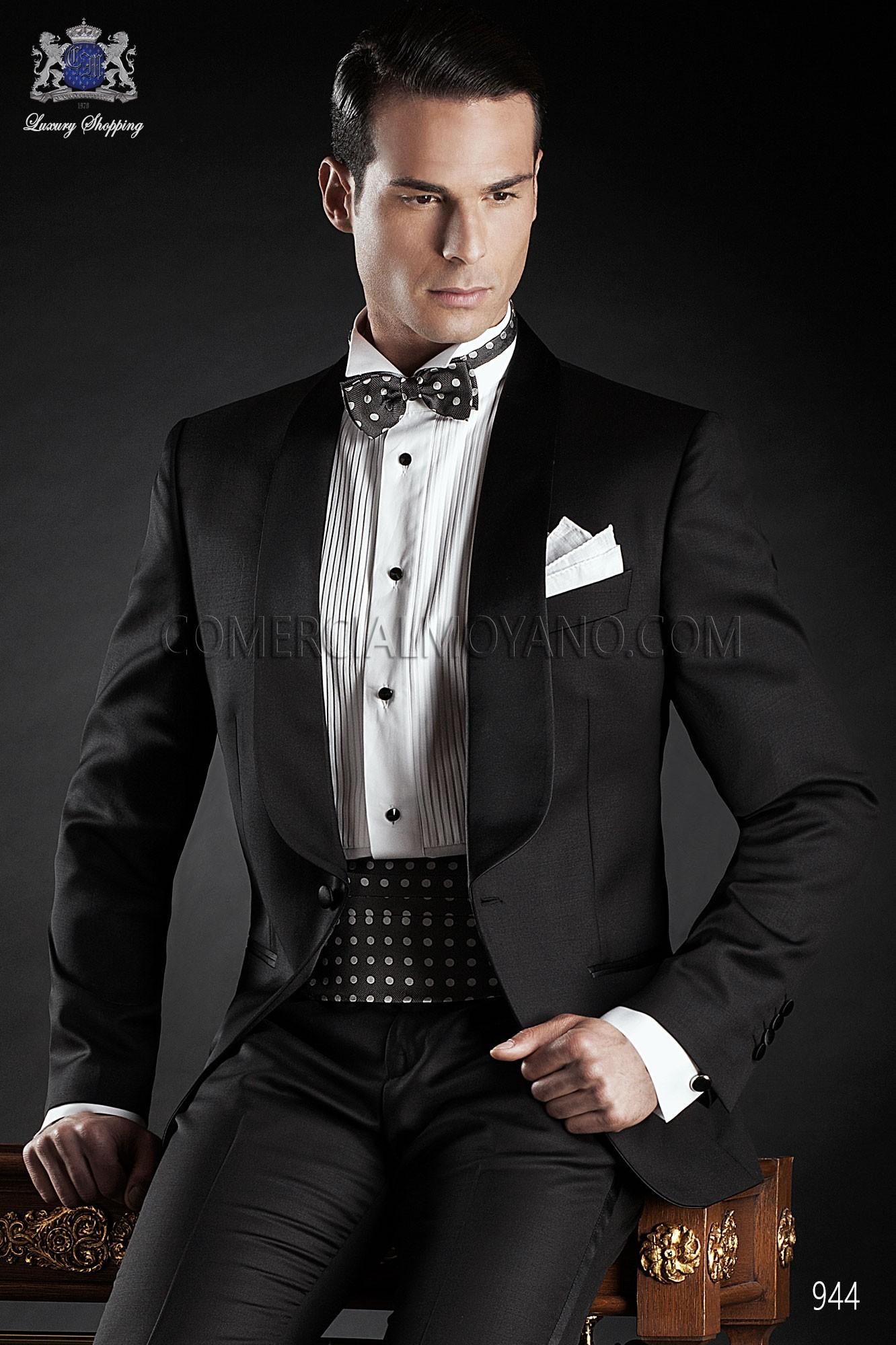 Traje BlackTie de novio negro modelo: 944 Ottavio Nuccio Gala colección Black Tie