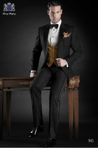 Italian blacktie black men wedding suit style 945 Ottavio Nuccio Gala