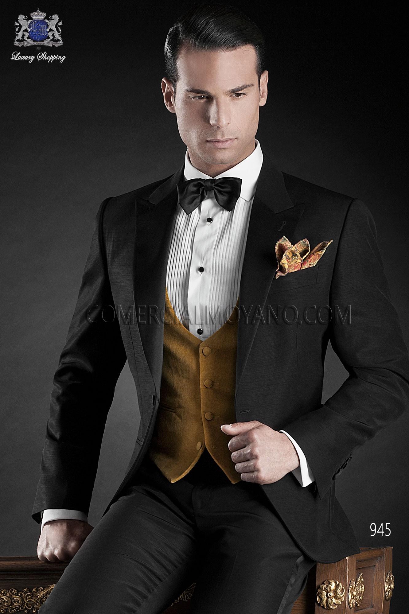 Traje BlackTie de novio negro modelo: 945 Ottavio Nuccio Gala colección Black Tie
