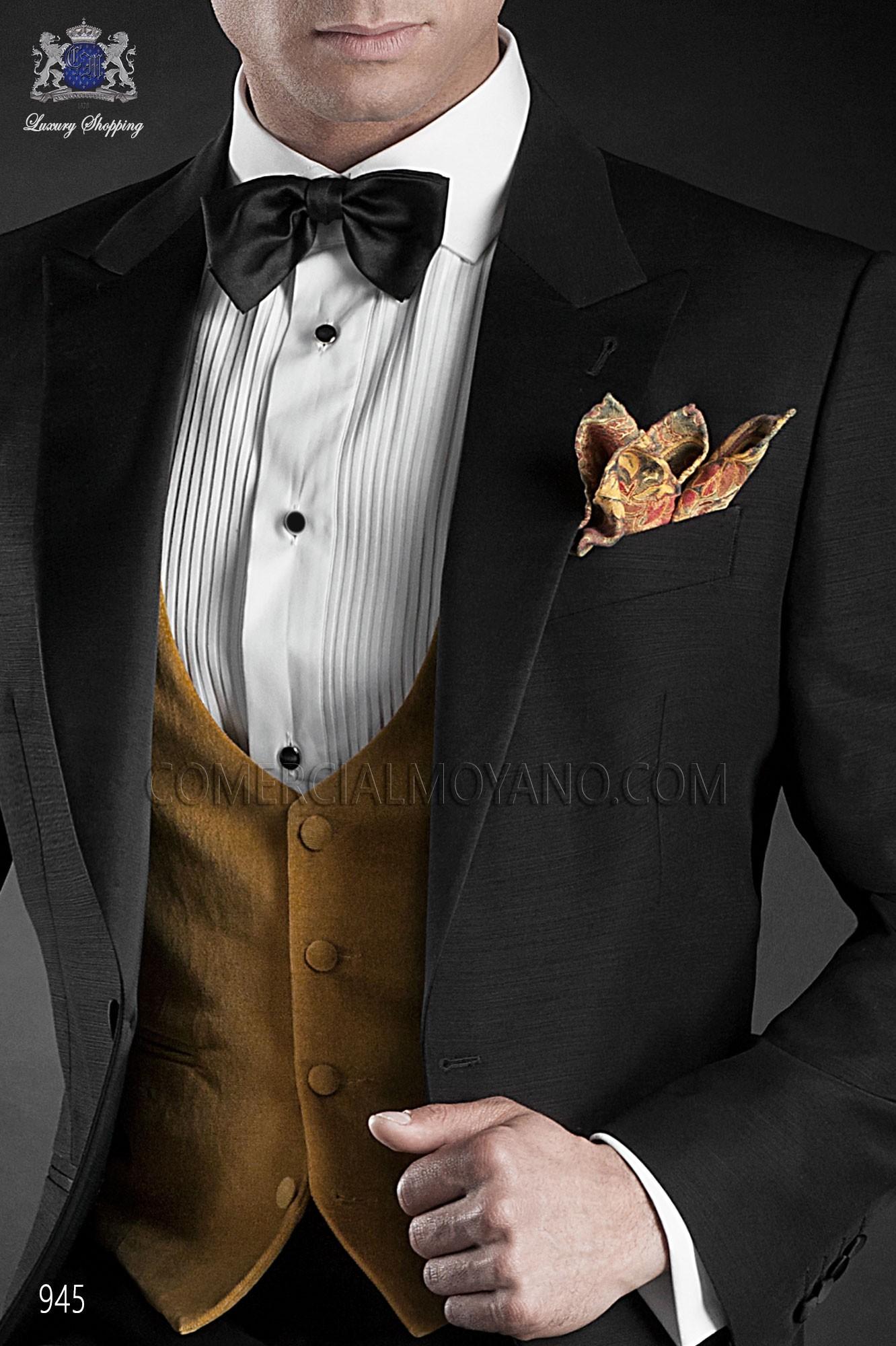 Italian blacktie black men wedding suit, model: 945 Ottavio Nuccio Gala Black Tie Collection