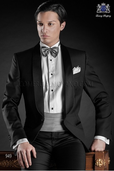 Italian blacktie black men wedding suit style 949 Ottavio Nuccio Gala