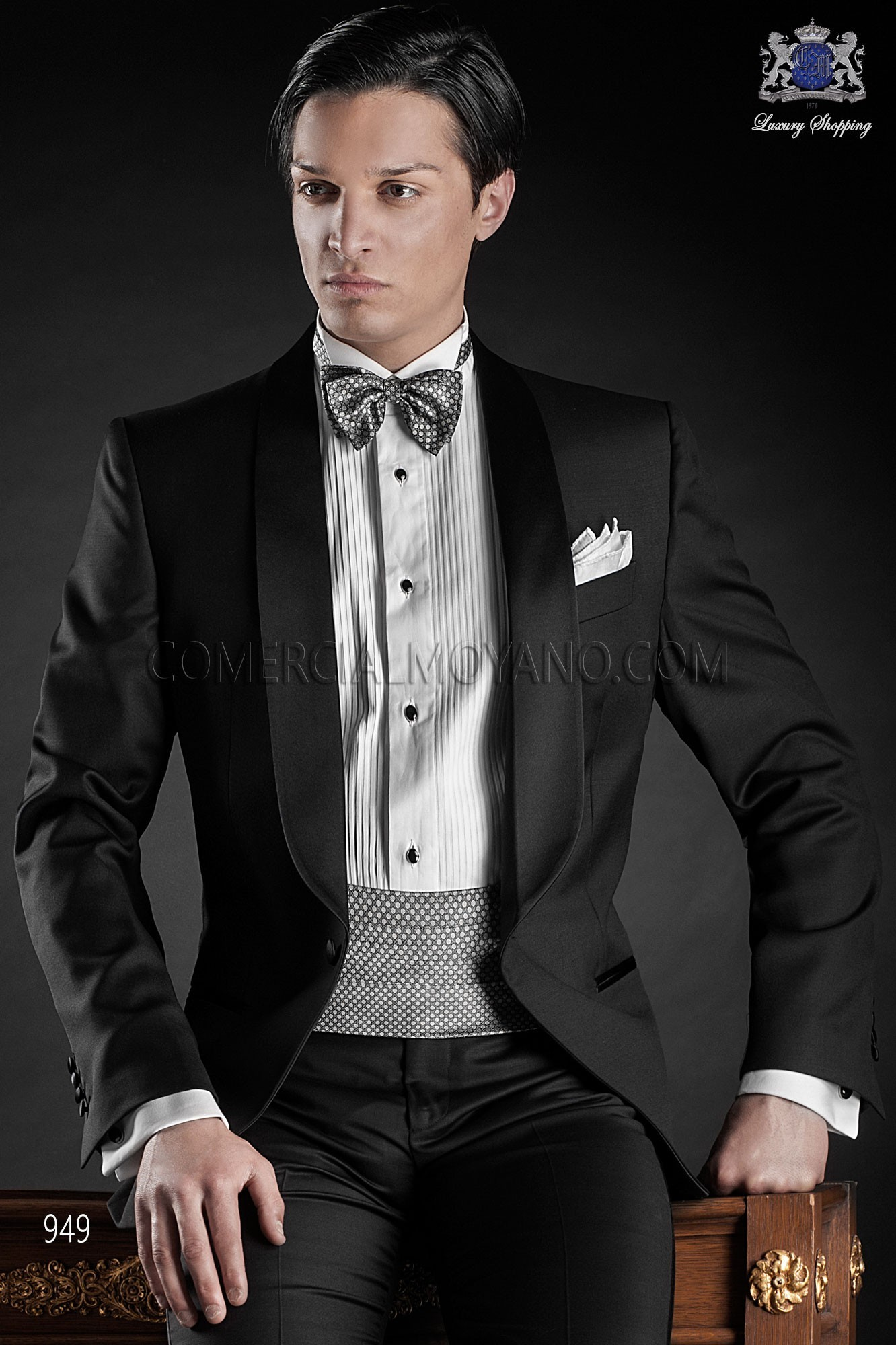 Black Tie black men wedding suit model 949 Ottavio Nuccio Gala