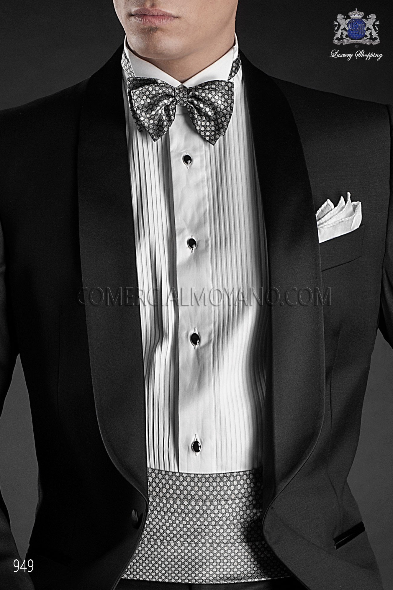 Italian blacktie black men wedding suit, model: 949 Ottavio Nuccio Gala Black Tie Collection