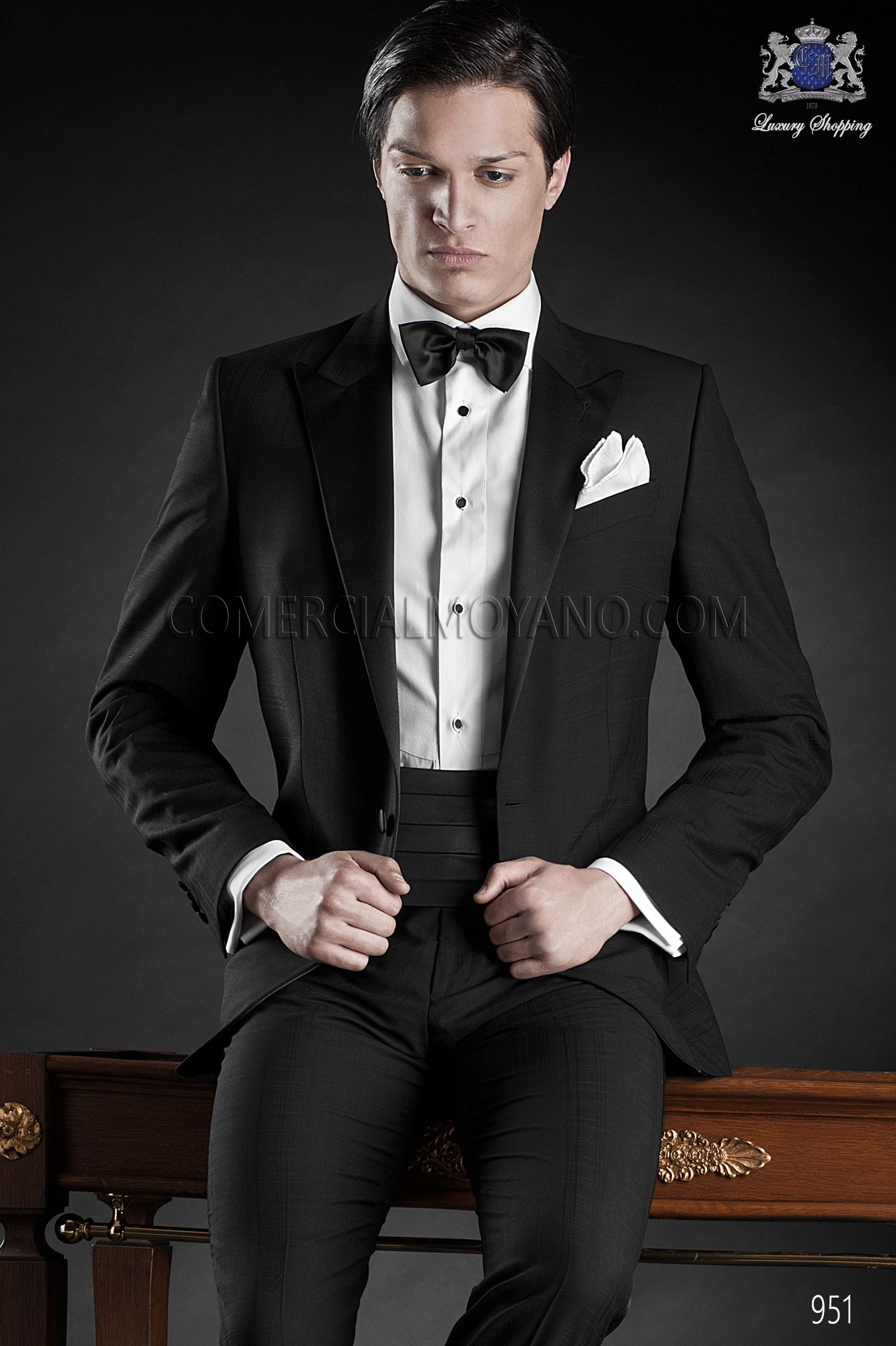 Traje de fiesta hombre negro modelo: 951 Ottavio Nuccio Gala colección Black Tie