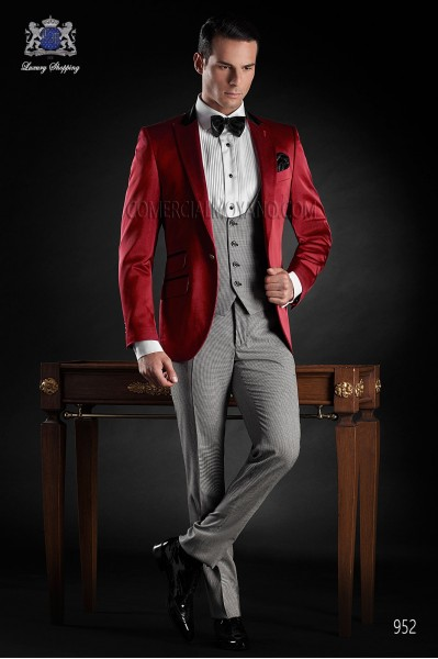 Italian blacktie red men wedding suit style 952 Ottavio Nuccio Gala