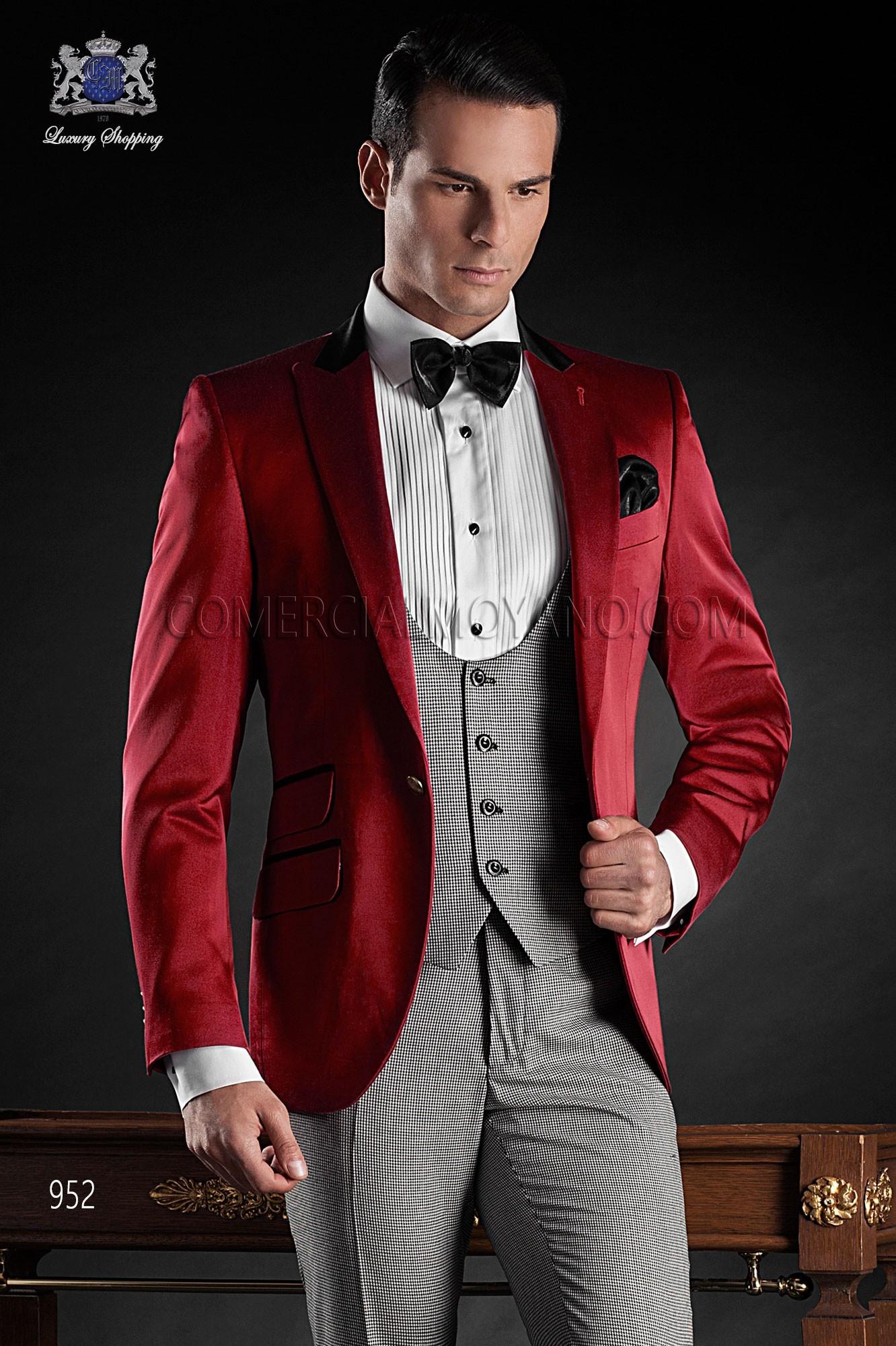Traje BlackTie de novio rojo modelo: 952 Ottavio Nuccio Gala colección Black Tie