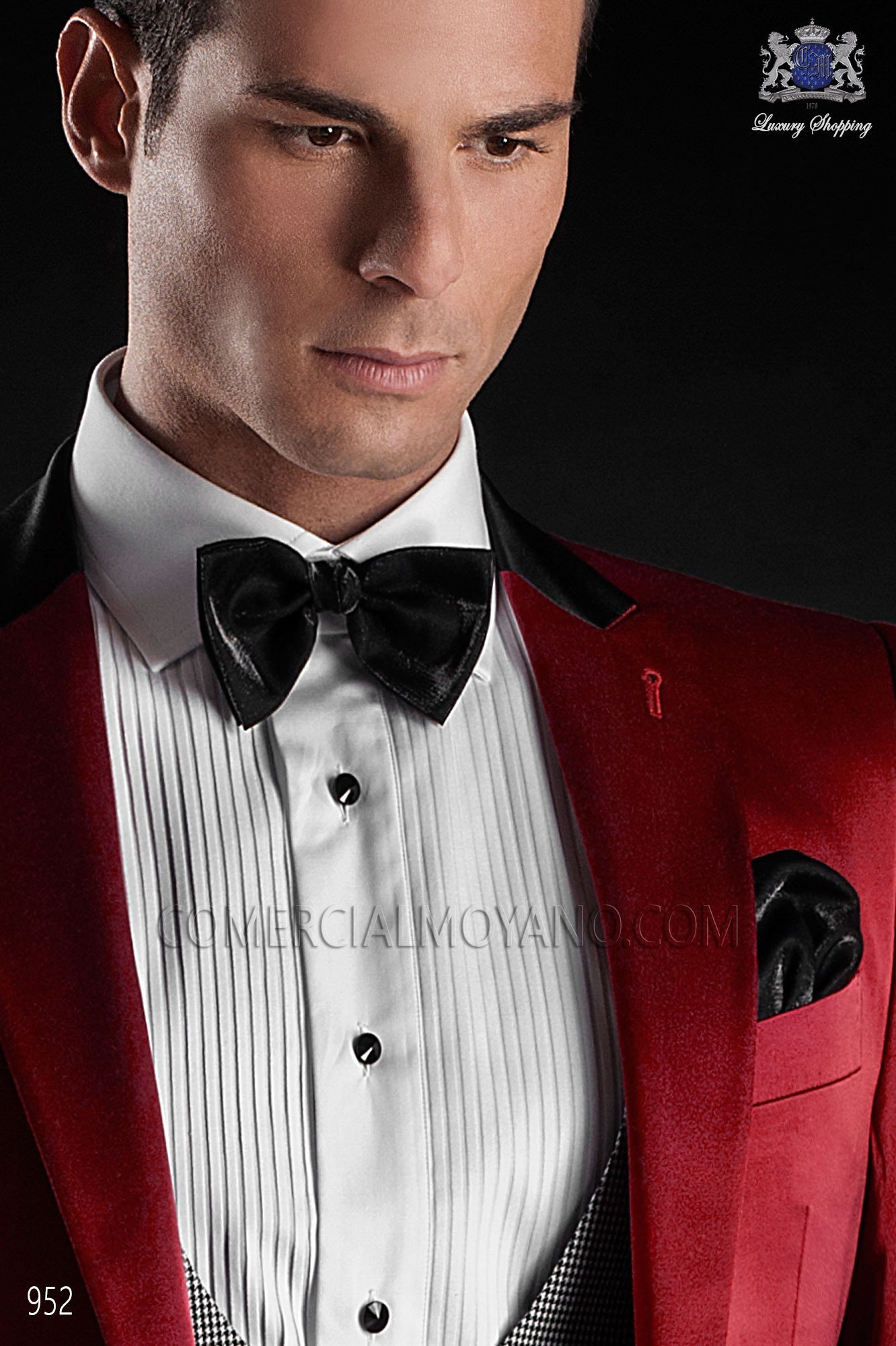 Italian Blacktie Red Men Wedding Suit Model 952 Ottavio Nuccio Gala 2017 Black Tie