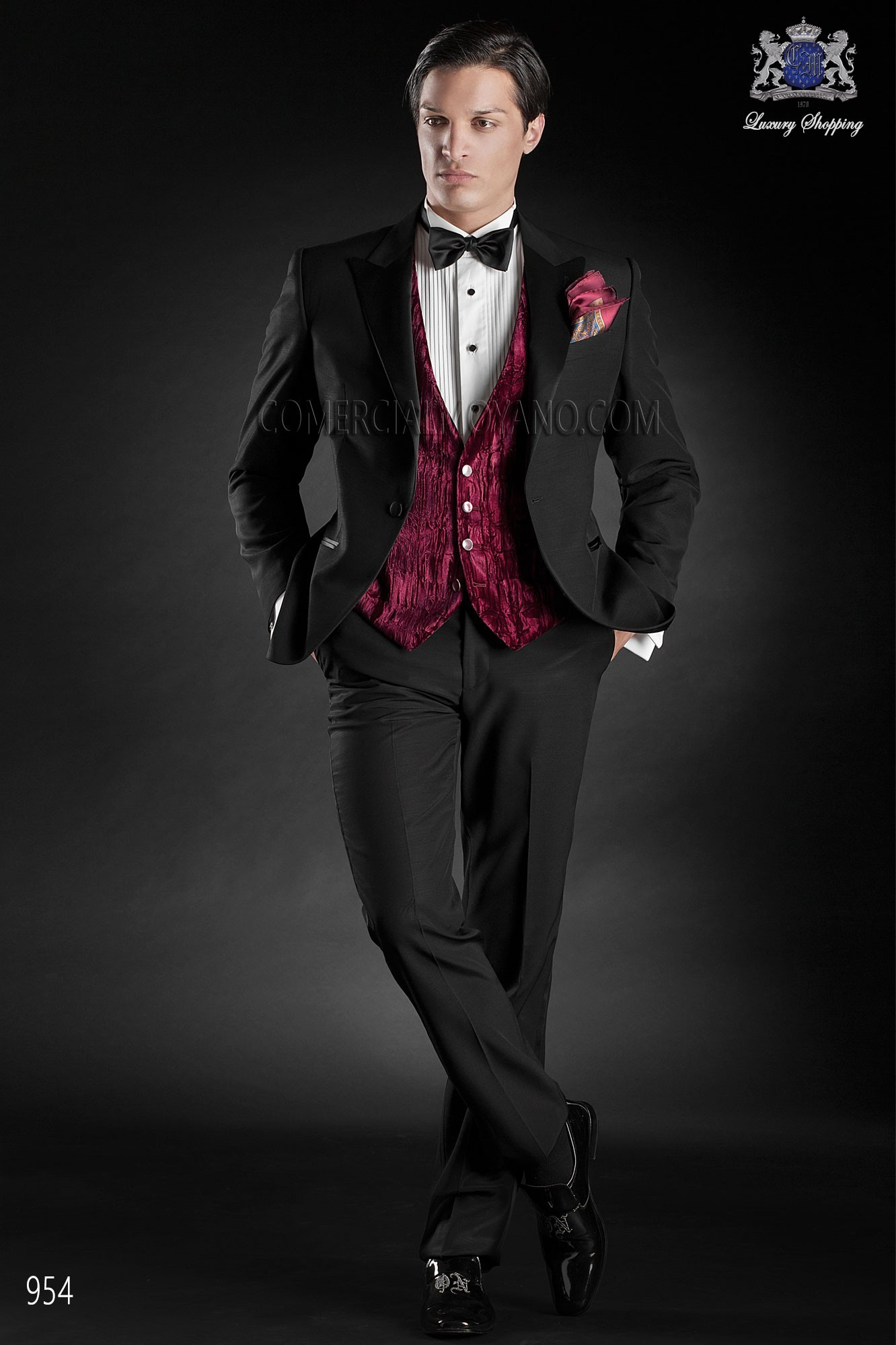 Black Tie black men wedding suit model 954 Ottavio Nuccio Gala