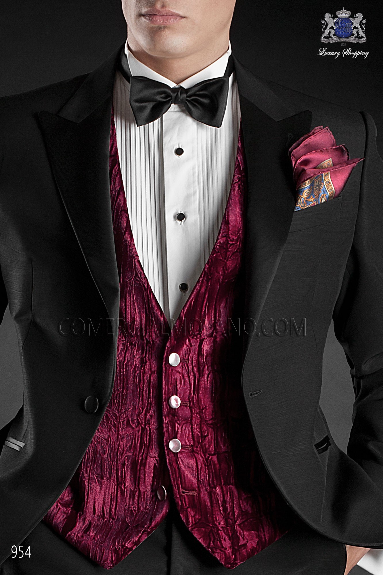 Italian blacktie black men wedding suit, model: 954 Ottavio Nuccio Gala 2017 Black Tie Collection