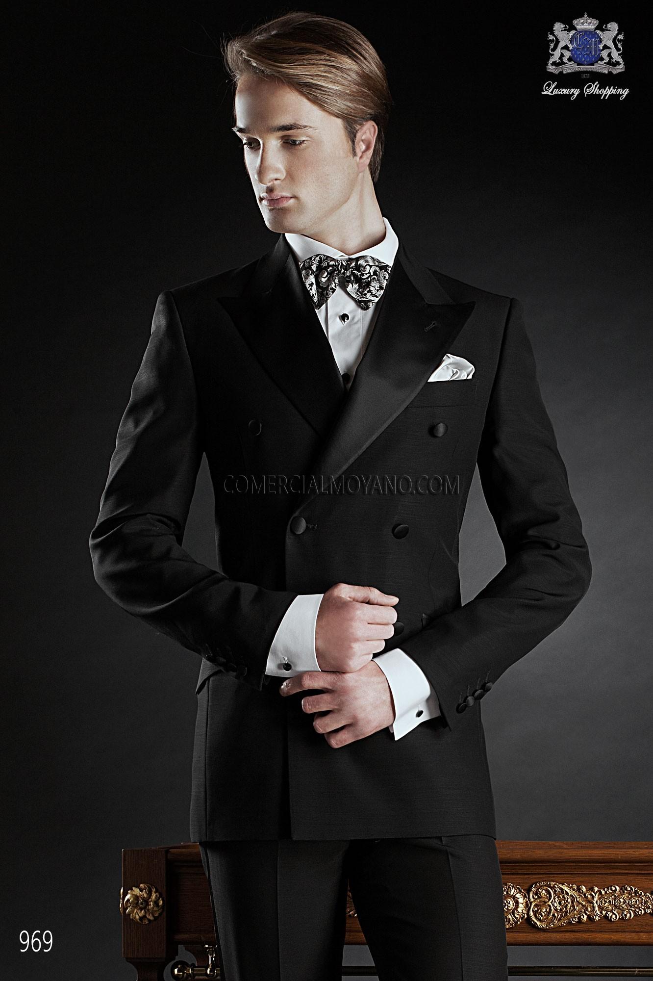Traje BlackTie de novio negro modelo: 969 Ottavio Nuccio Gala colección Black Tie