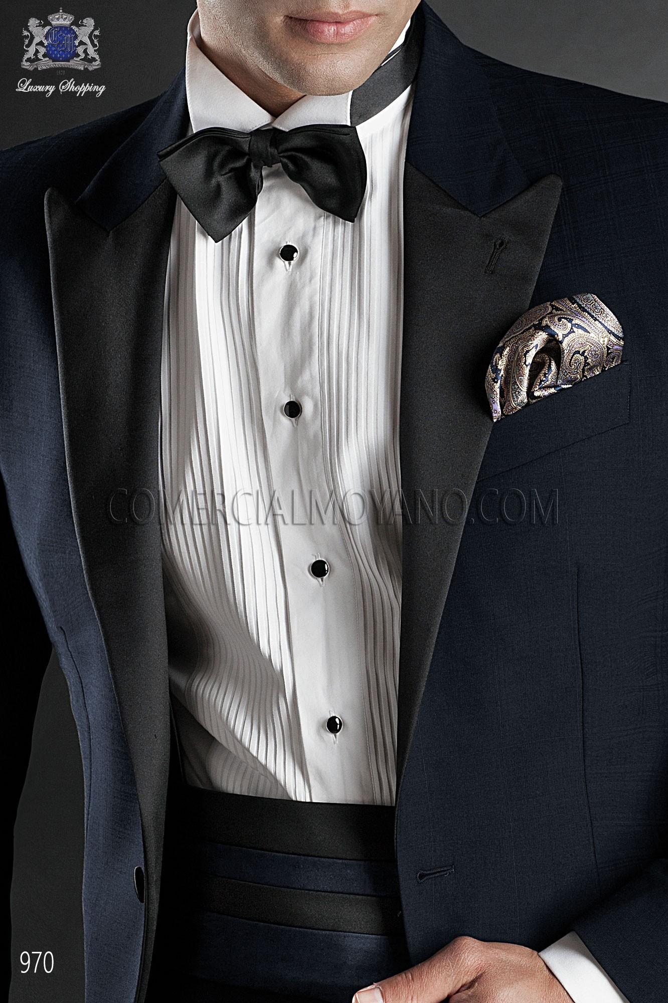 Italian blacktie blue men wedding suit, model: 970 Ottavio Nuccio Gala Black Tie Collection