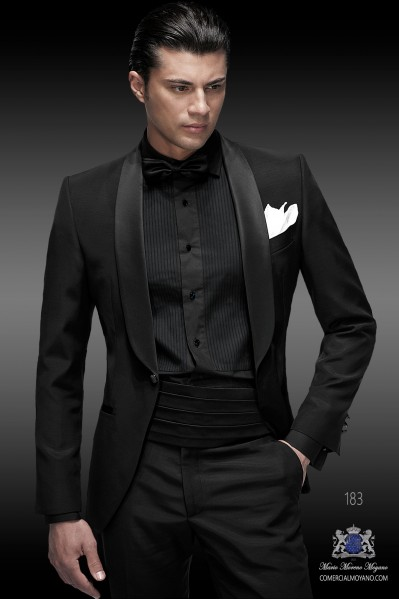 Italian blacktie black men wedding suit style 183 Ottavio Nuccio Gala