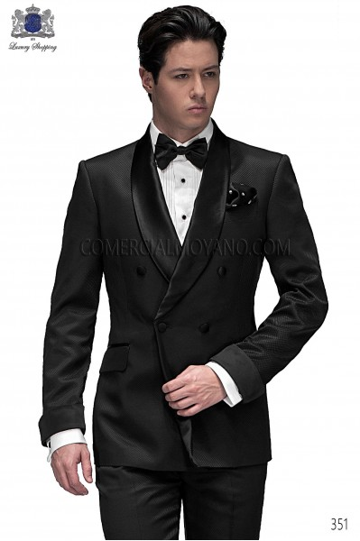 Italian blacktie black men wedding suit style 351 Ottavio Nuccio Gala
