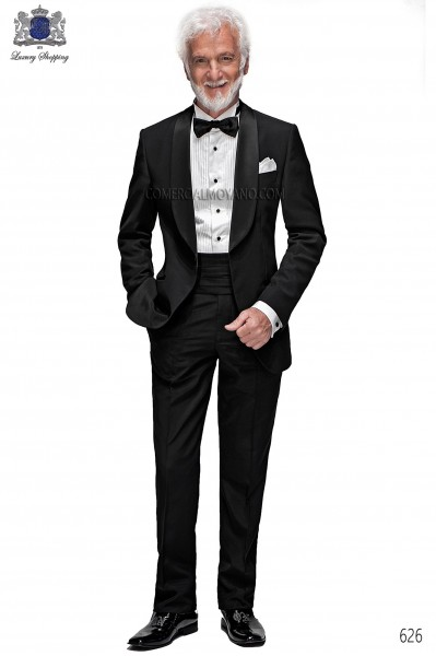 Italian blacktie black men wedding suit style 626 Ottavio Nuccio Gala