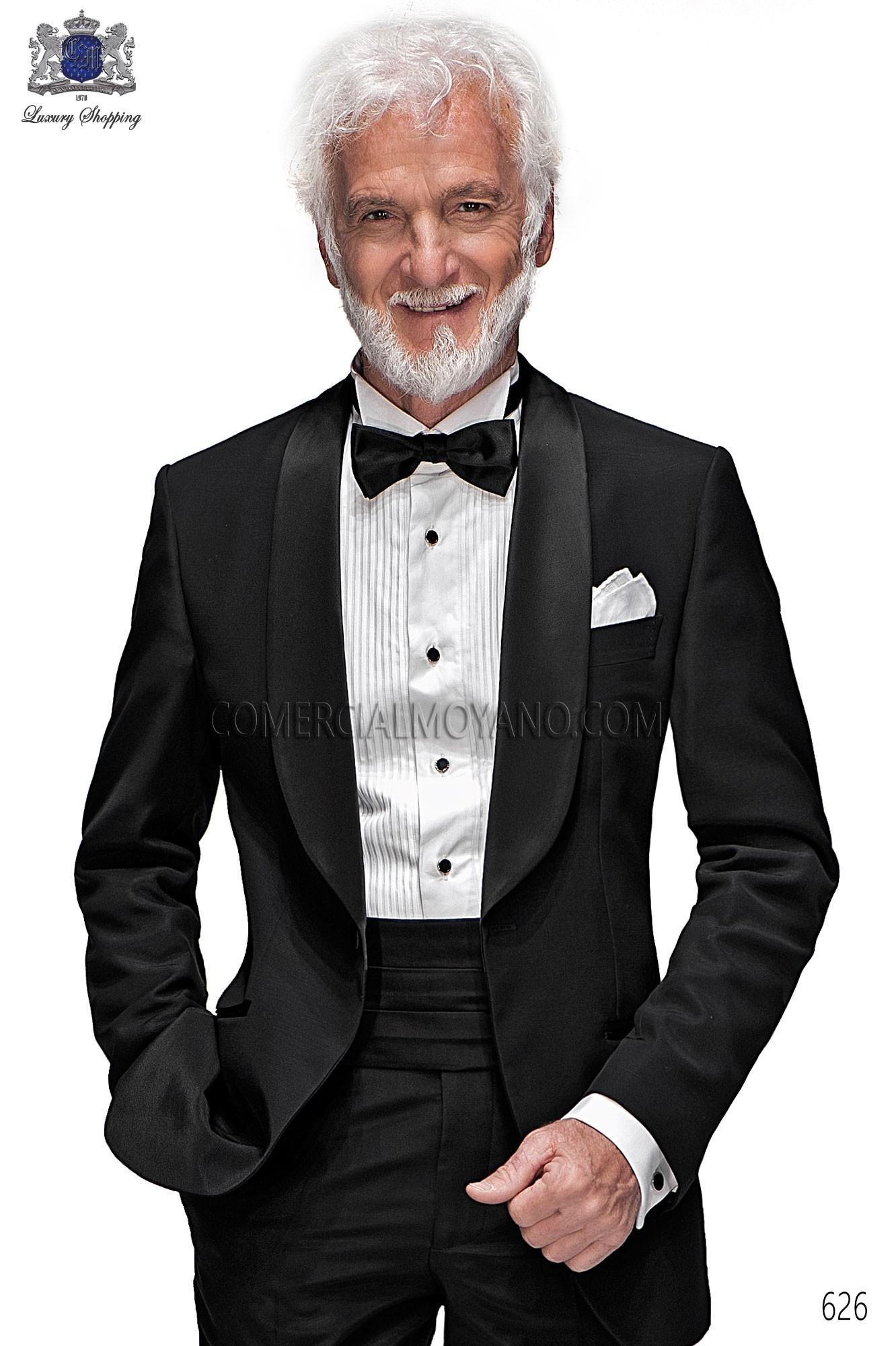 Traje BlackTie de novio negro modelo: 626 Ottavio Nuccio Gala colección Black Tie
