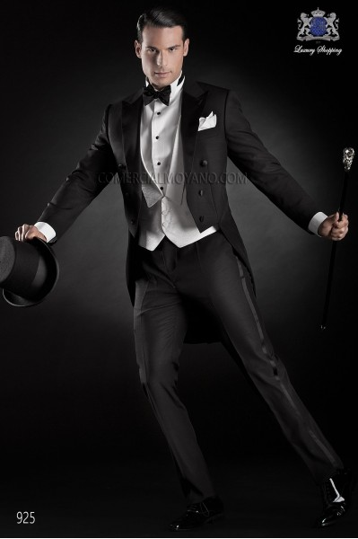 Italian black tailcoat