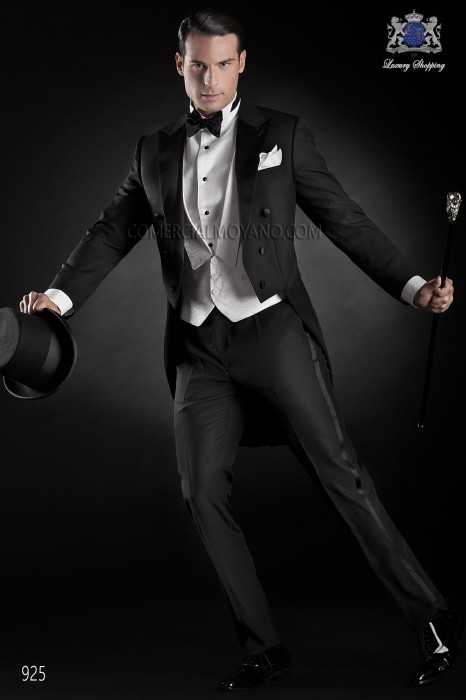 Italian black tailcoat