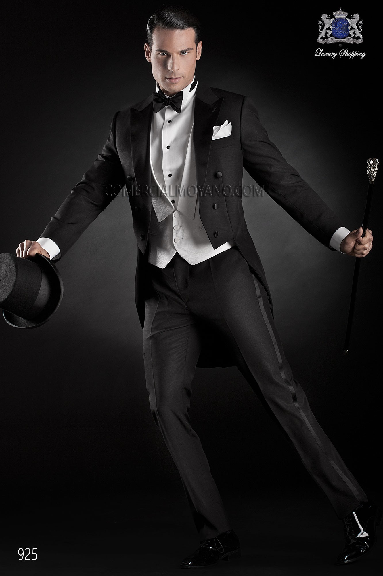 Black Tie black men wedding suit model 925 Ottavio Nuccio Gala