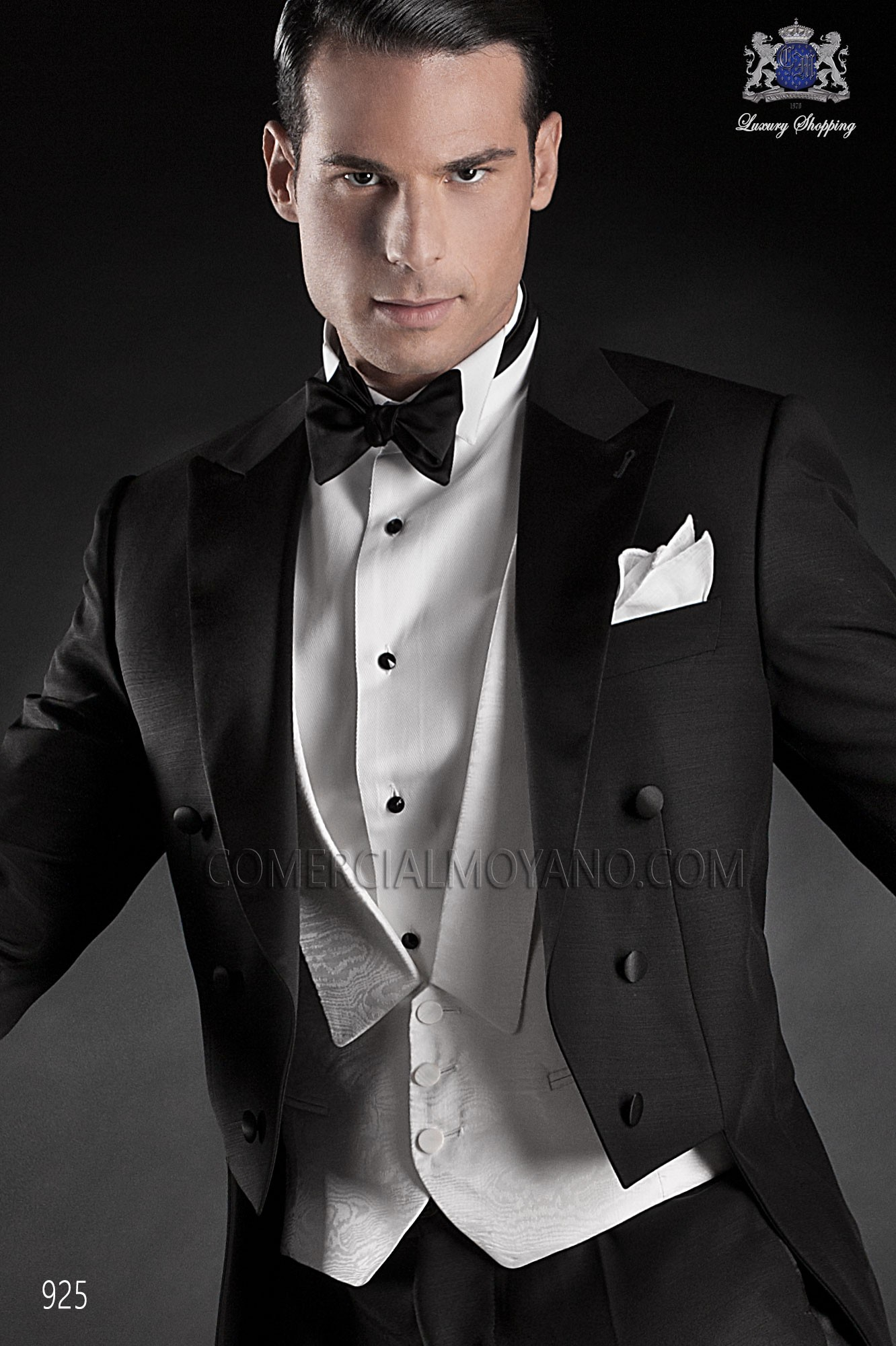 Italian blacktie black men wedding suit, model: 925 Ottavio Nuccio Gala Black Tie Collection