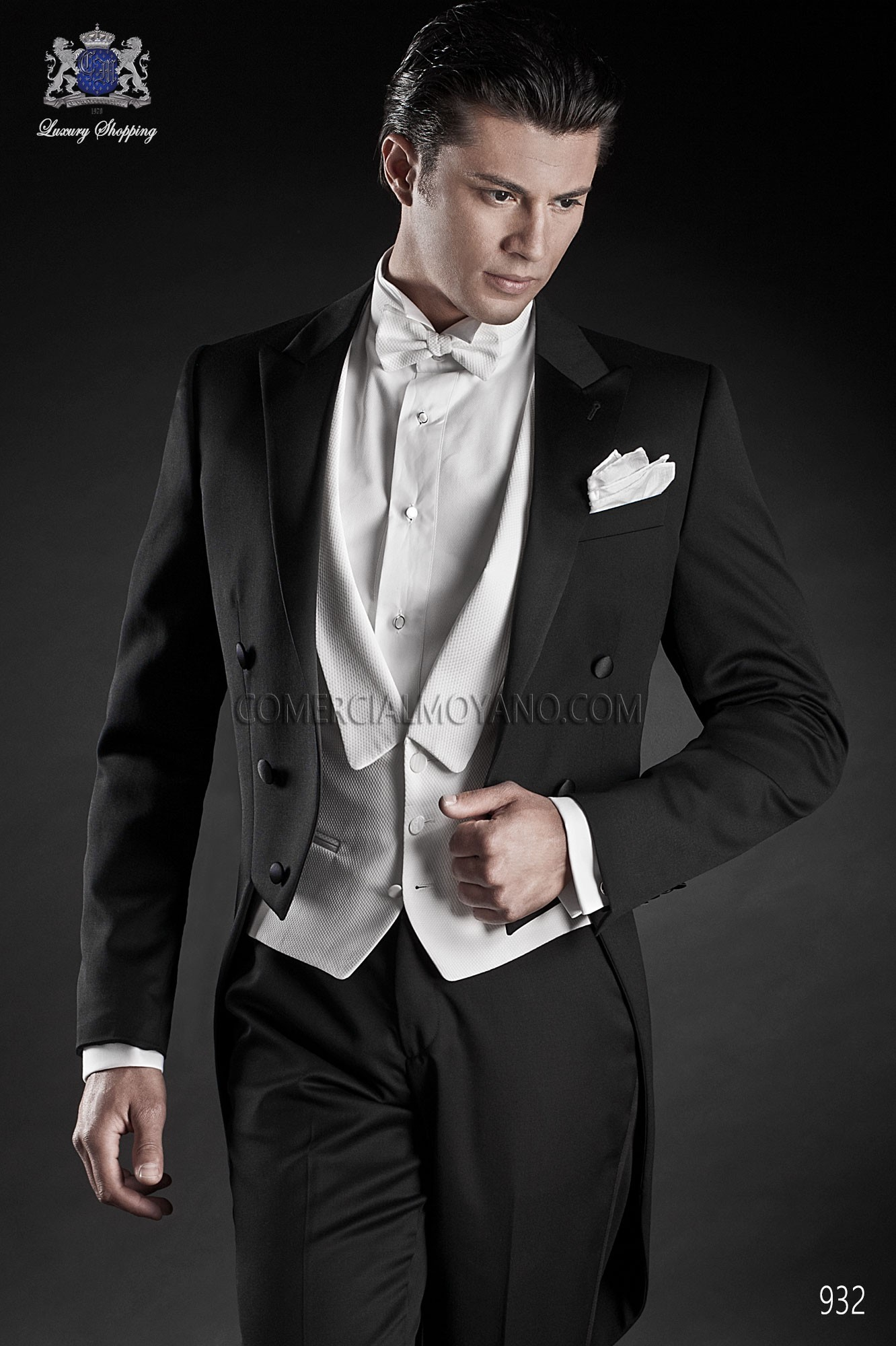 Black Tie black men wedding suit model 932 Ottavio Nuccio Gala