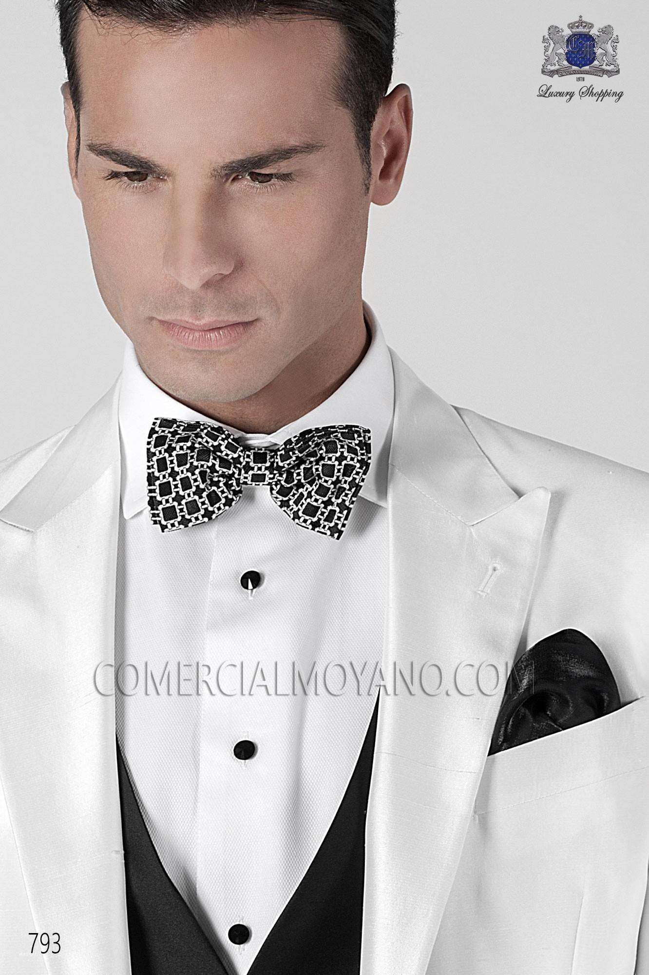 Traje BlackTie de novio blanco modelo: 793 Ottavio Nuccio Gala colección Black Tie