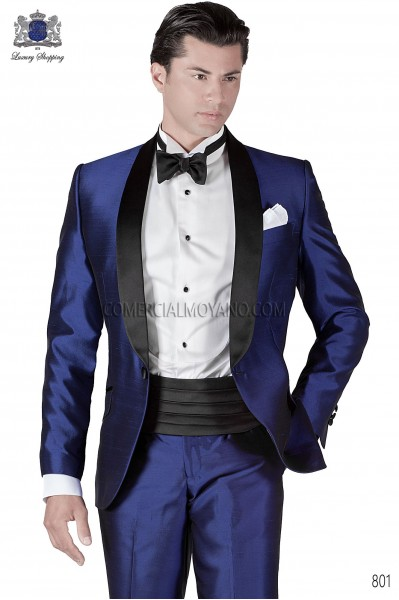 Italian blacktie blue men wedding suit style 801 Ottavio Nuccio Gala