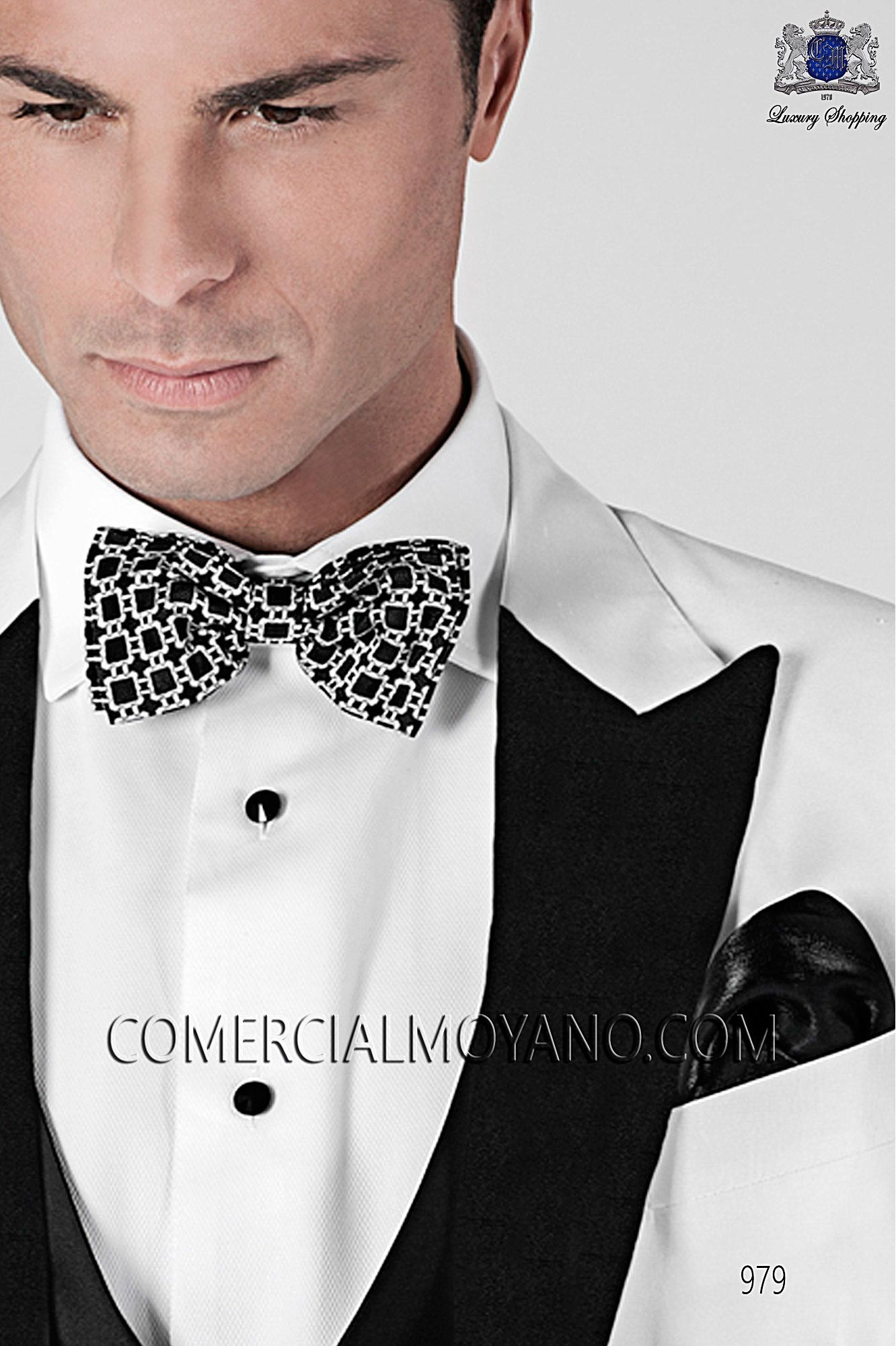 Italian blacktie White men wedding suit, model: 979 Ottavio Nuccio Gala Black Tie Collection