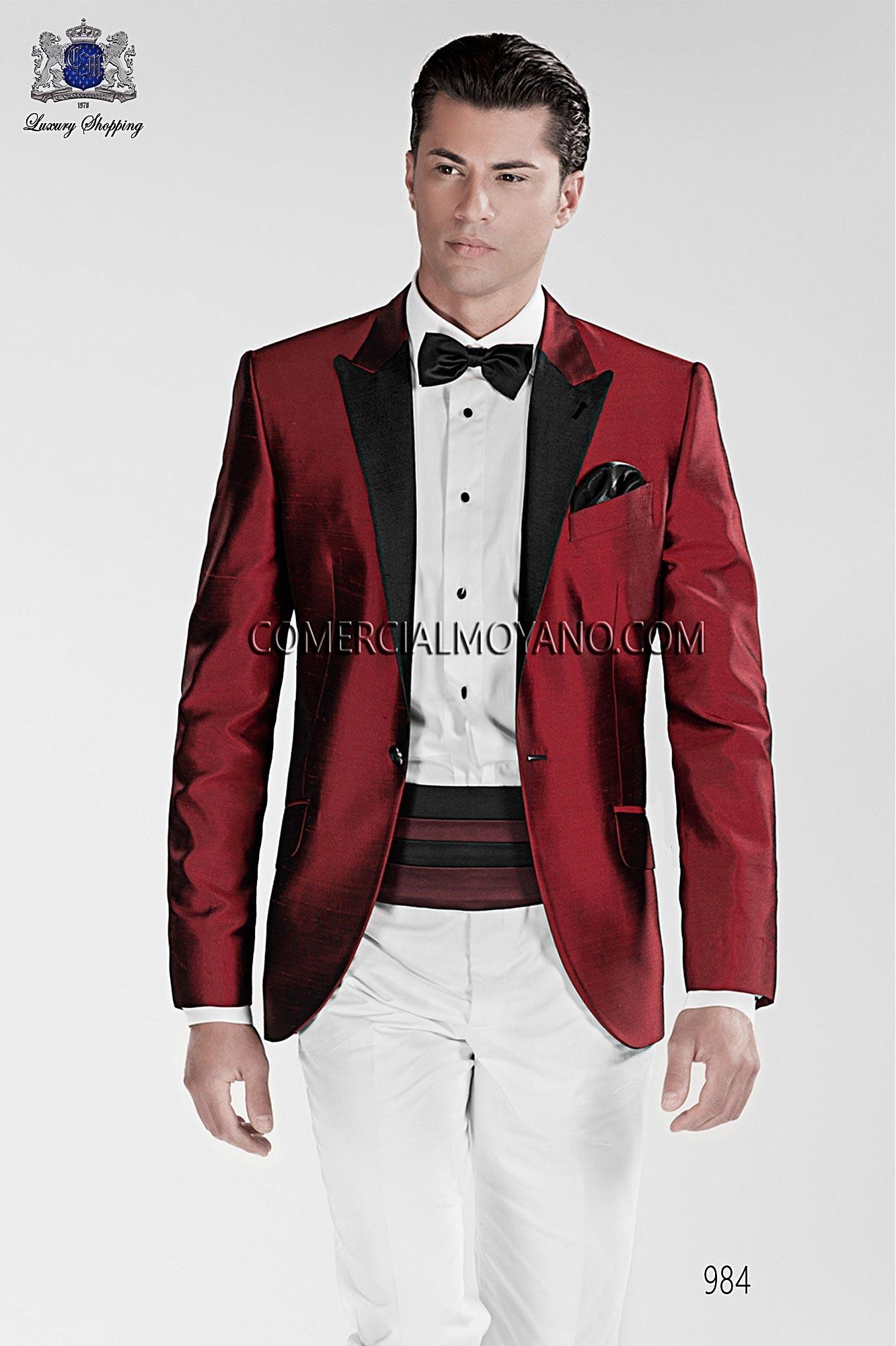 Traje BlackTie de novio rojo modelo: 984 Ottavio Nuccio Gala colección Black Tie