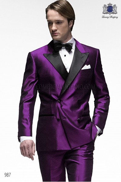 Italian blacktie purple men wedding suit style 987 Ottavio Nuccio Gala