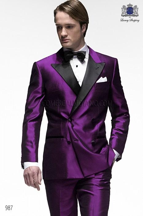 Italian purple wedding tuxedo