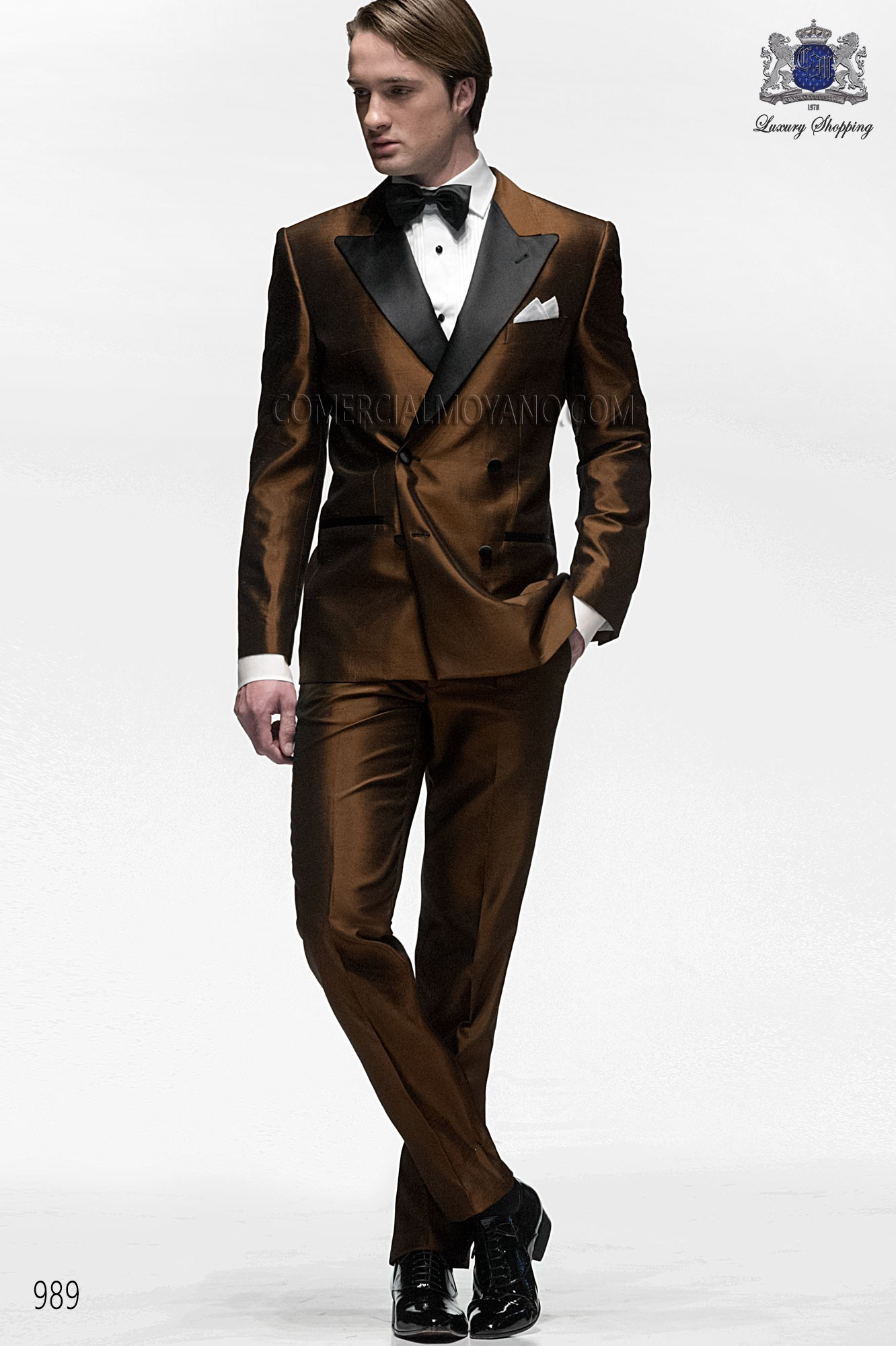Black Tie brown men wedding suit model 989 Ottavio Nuccio Gala