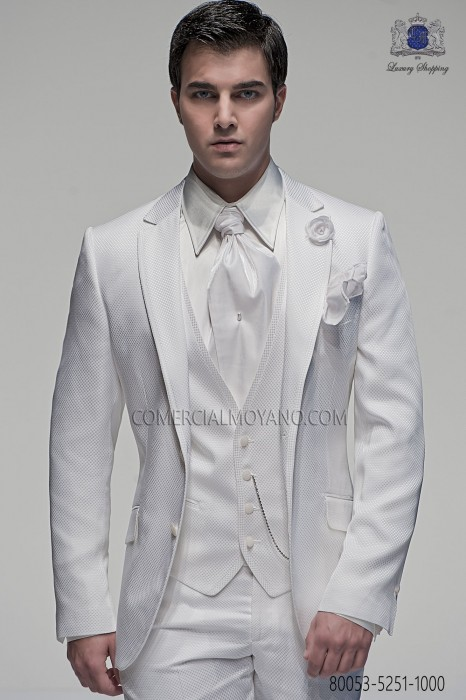 White Wedding Suit - Wedding Photography