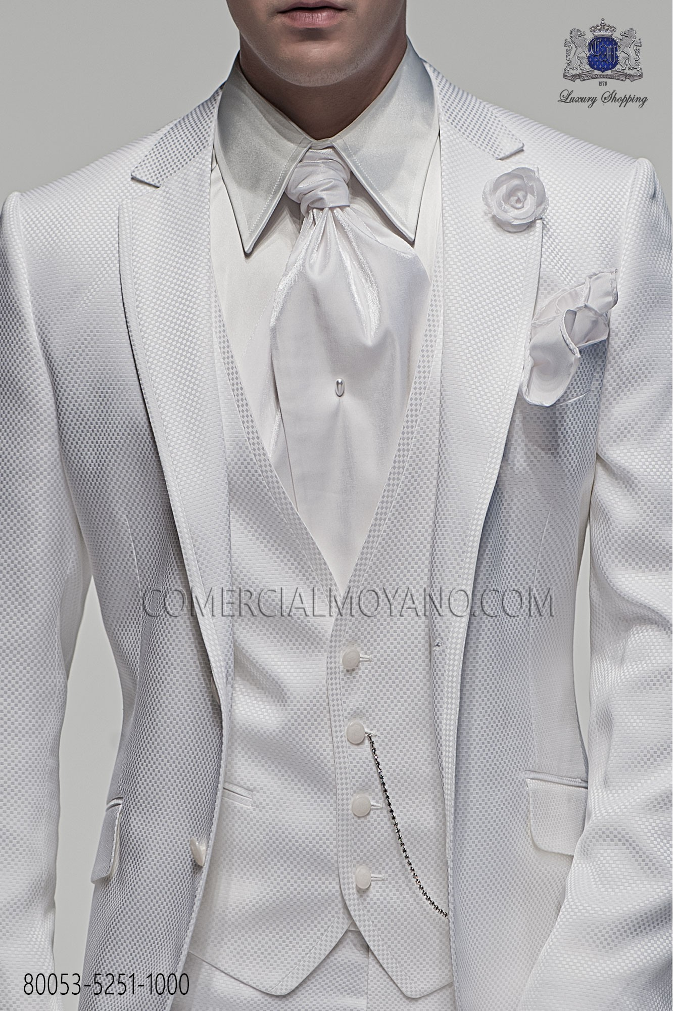 Fashion white men wedding suit, model: 80053 Ottavio Nuccio Gala ...