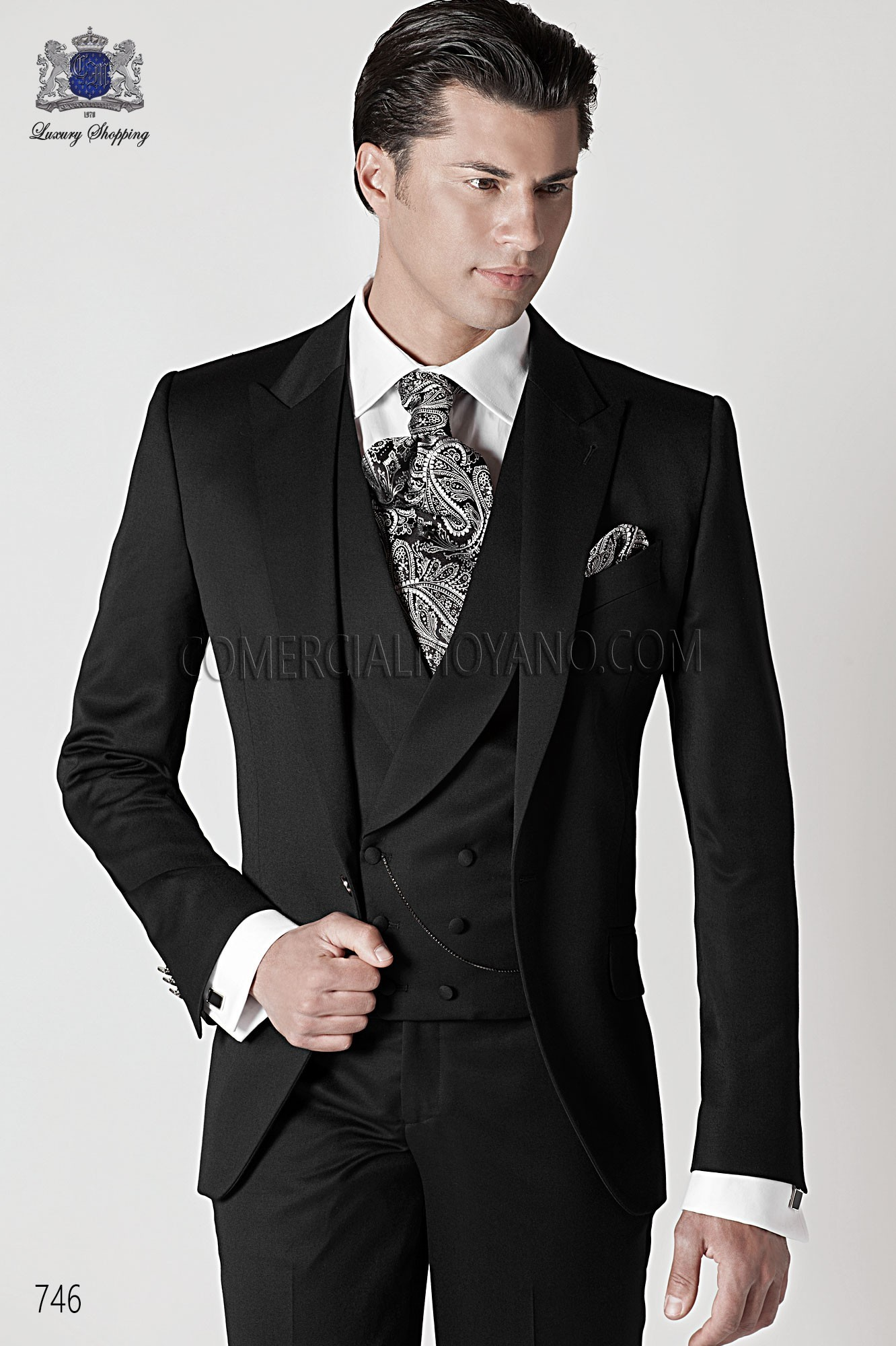 Fashion black men wedding suit, model: 746 Ottavio Nuccio Gala ...