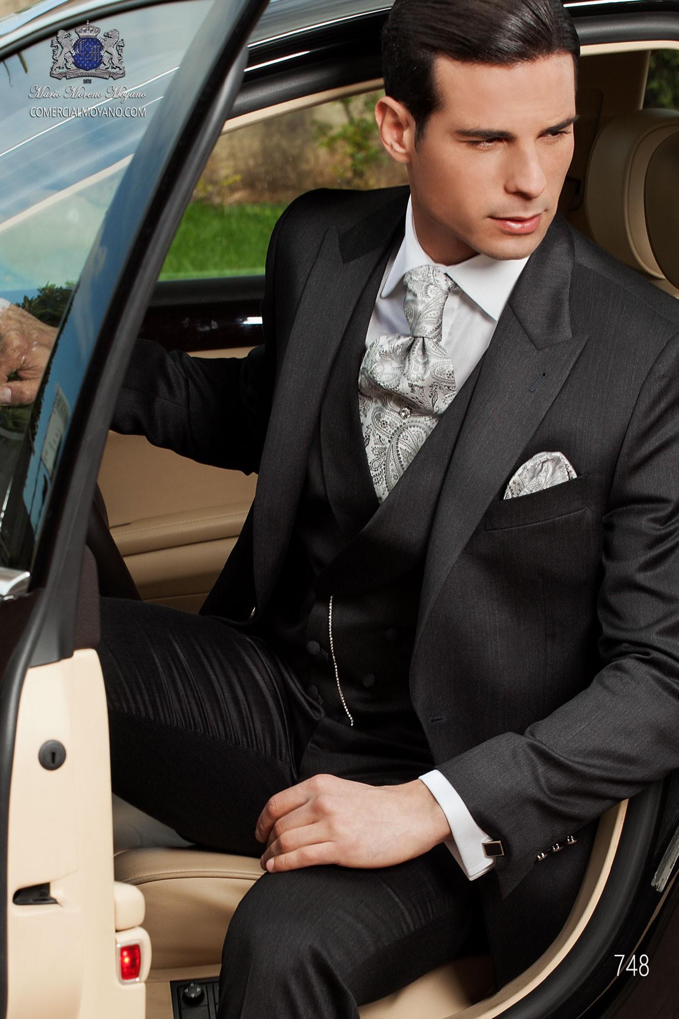 Traje de novio moderno gris modelo: 748 Ottavio Nuccio Gala colección Fashion