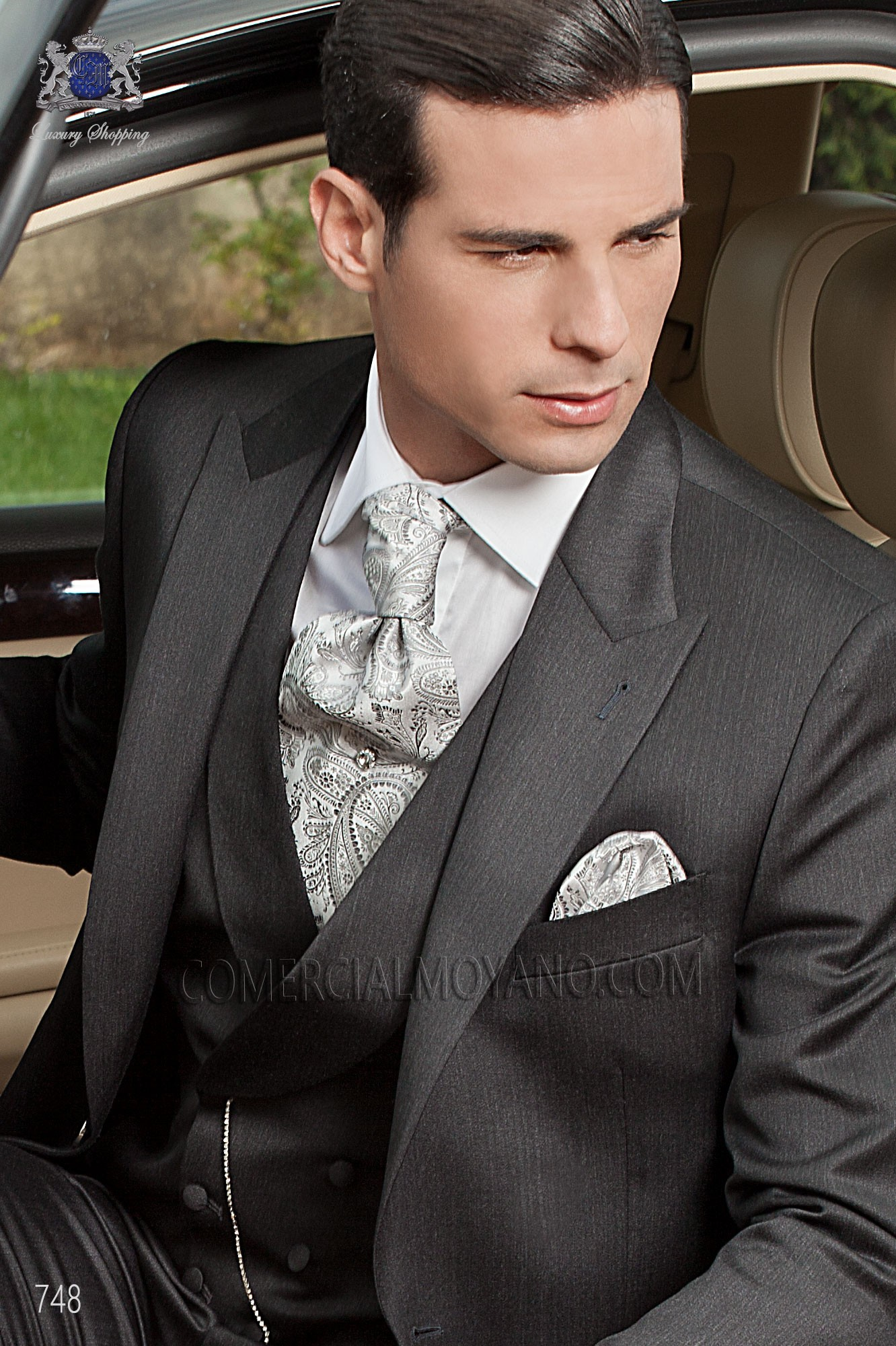 Italian fashion black men wedding suit, model: 748 Ottavio Nuccio Gala Fashion Collection