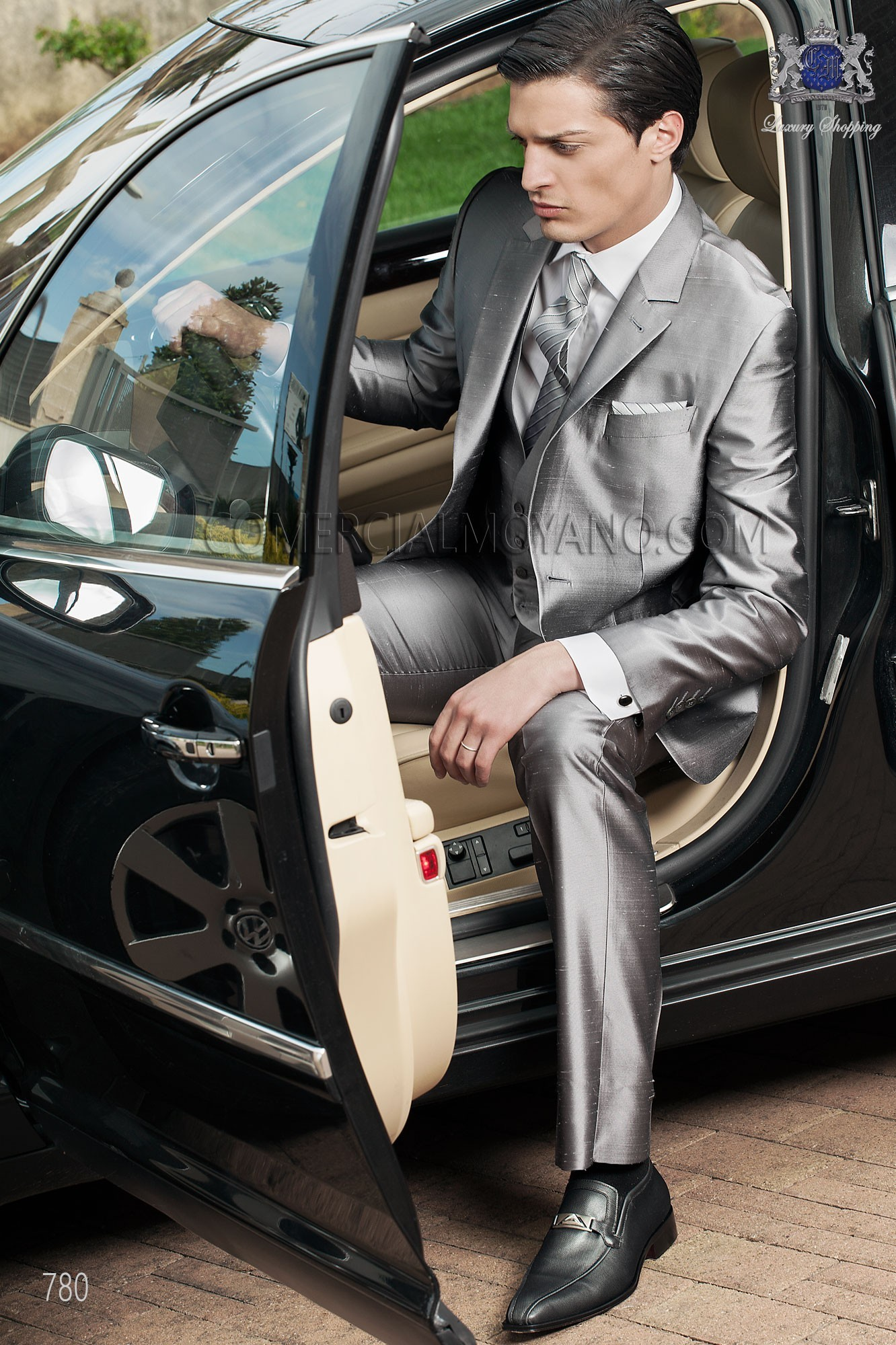 Fashion gray men wedding suit model 780 Ottavio Nuccio Gala