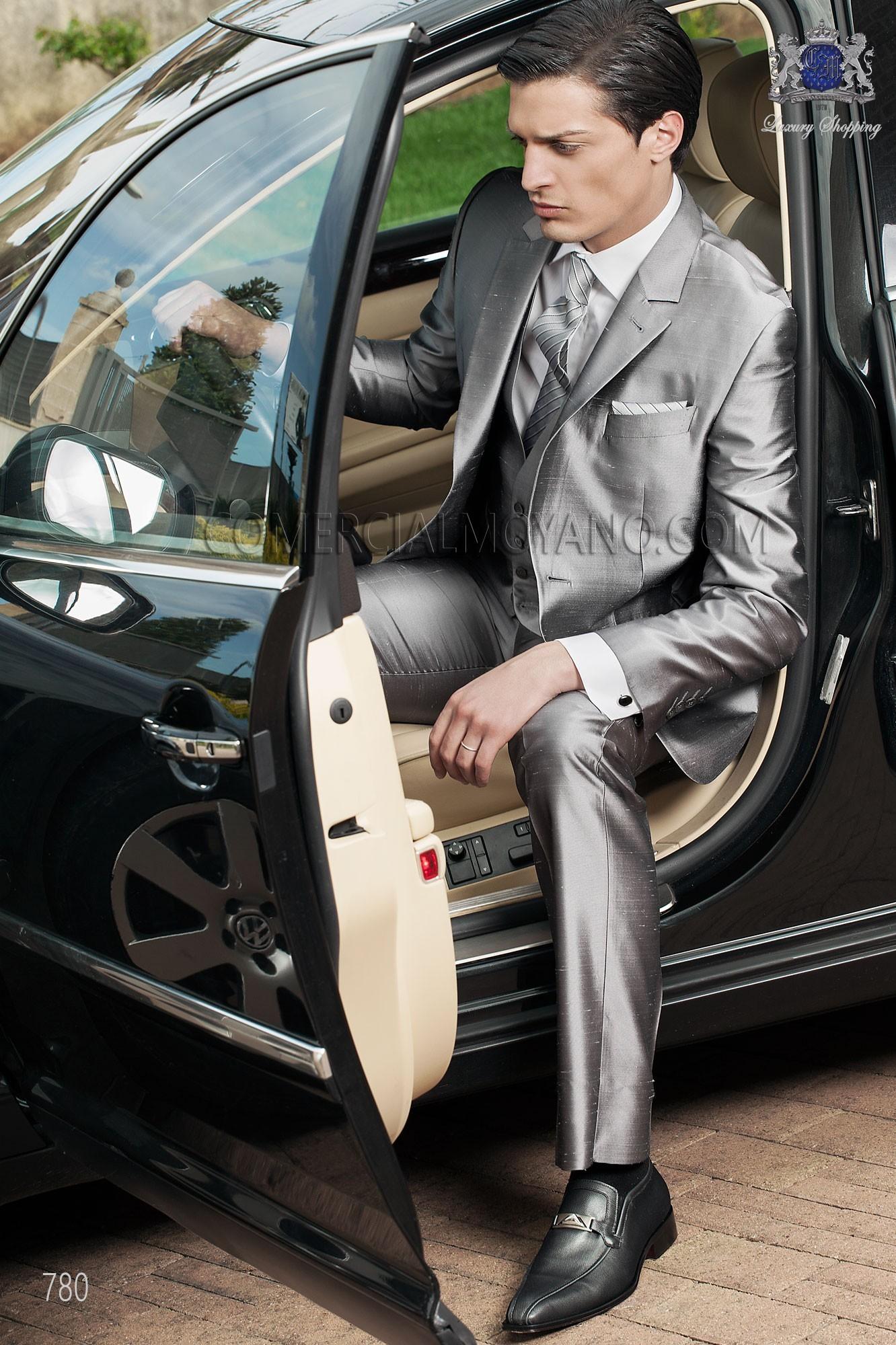 Traje de novio moderno gris modelo: 780 Ottavio Nuccio Gala colección Fashion