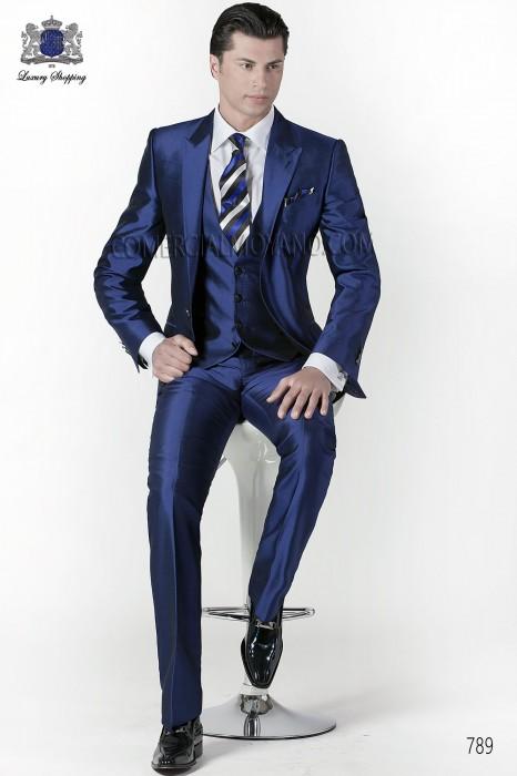 super popular 984a2 054fb Italienisch blauen Hochzeitsanzug 3 Stück