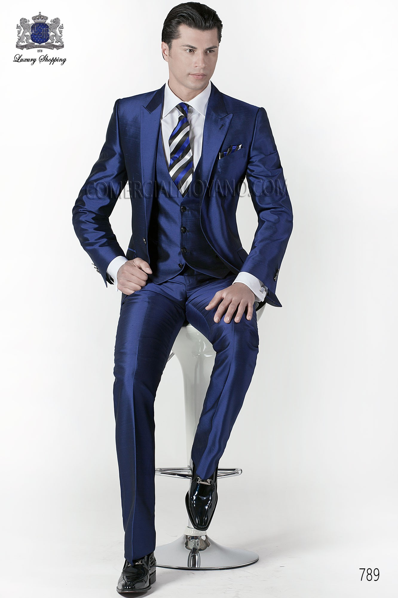 Fashion blue men wedding suit model 789 Ottavio Nuccio Gala