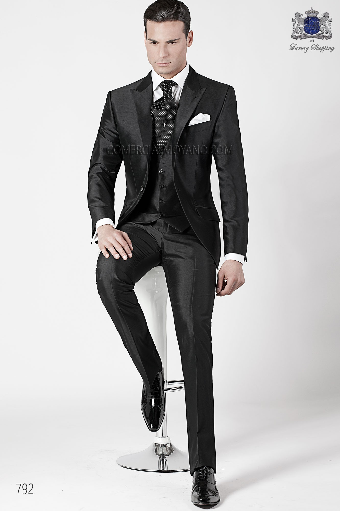Fashion black men wedding suit model 792 Ottavio Nuccio Gala
